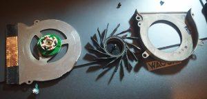 macbookpro fan taken apart