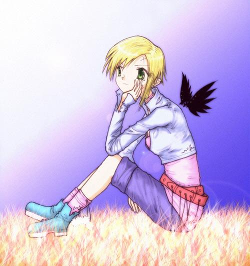 Girl with black wings - ting fen zheng