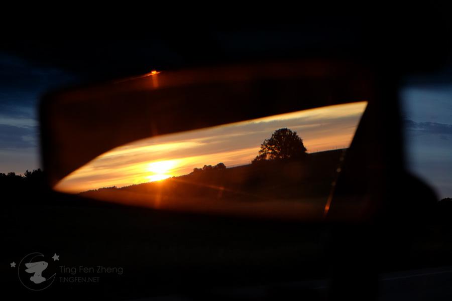 sunset rear view - ting fen zheng