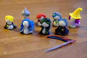 polymer clay figurines - ting fen zheng