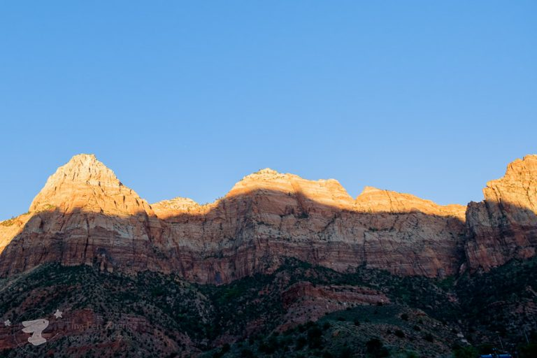 Zion national park sunset - ting fen zheng