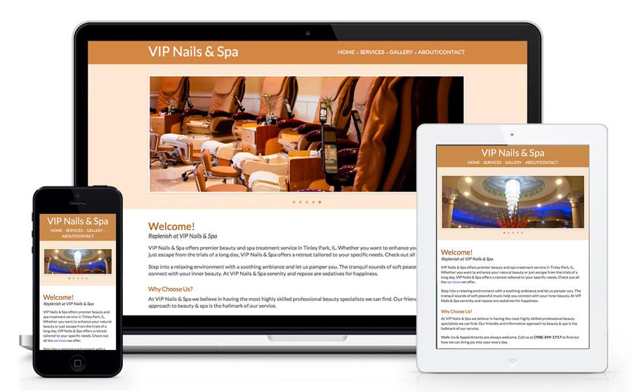 Vip Nail Tinley Website