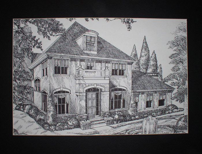 house in ink