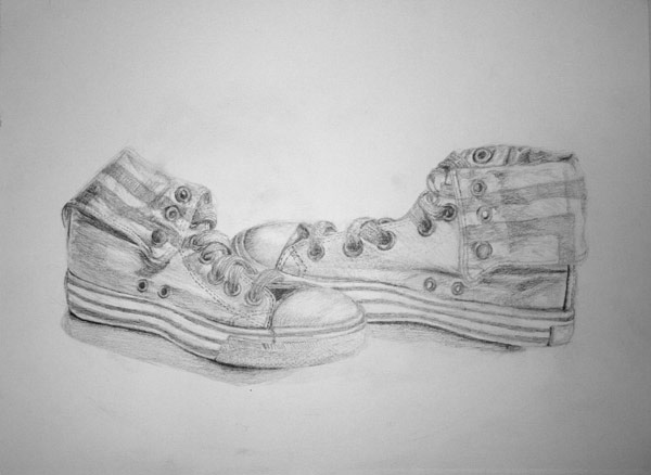 shoe in pencil