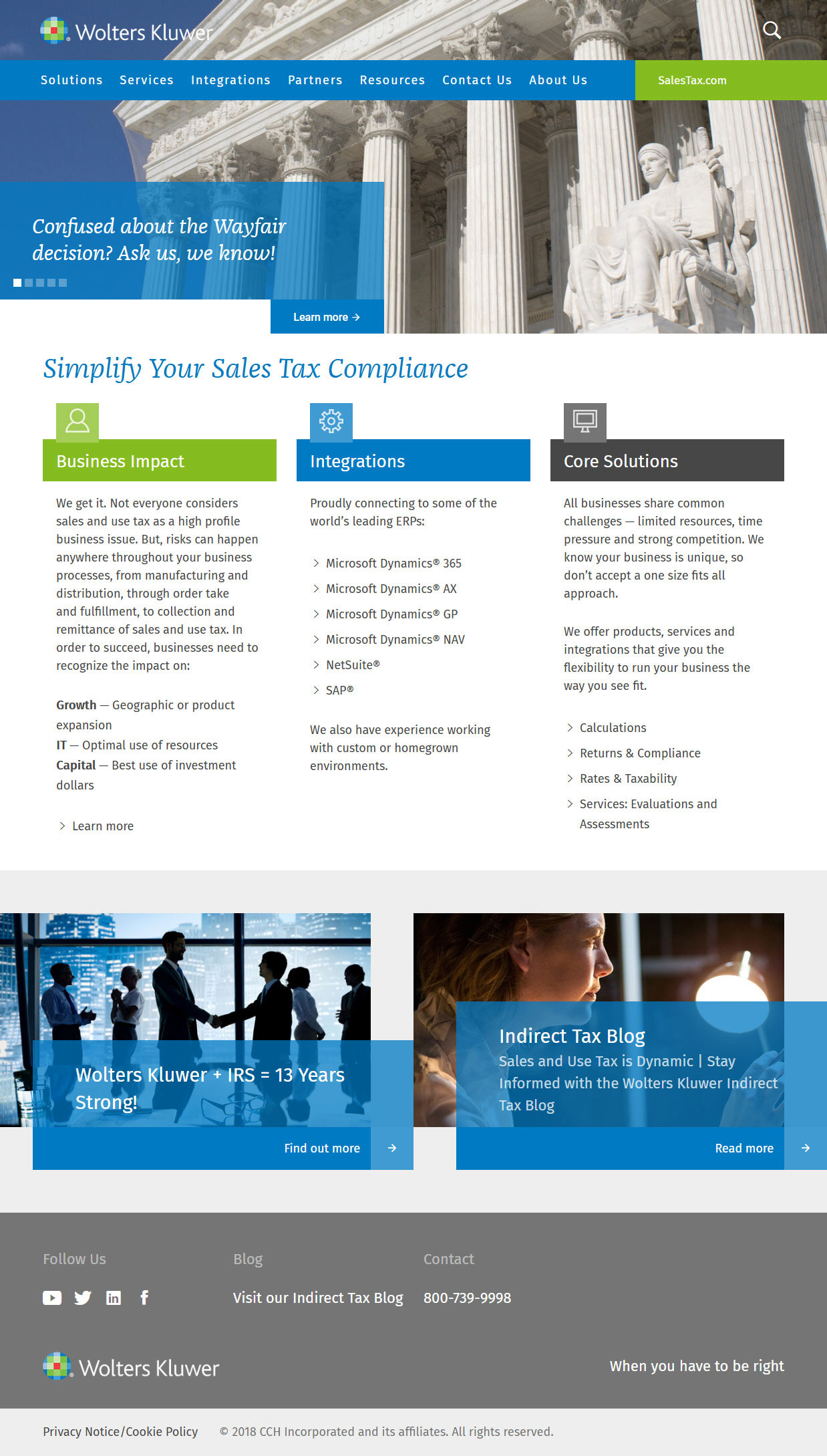 WK SalesTax Homepage