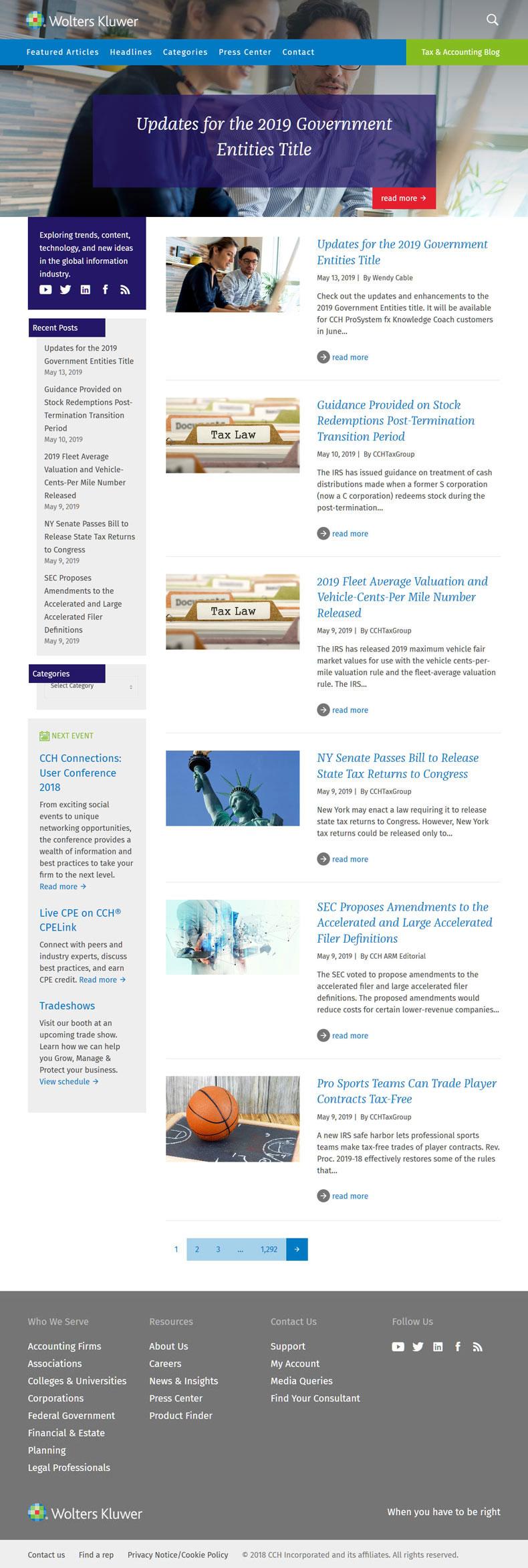 news cchgroup website
