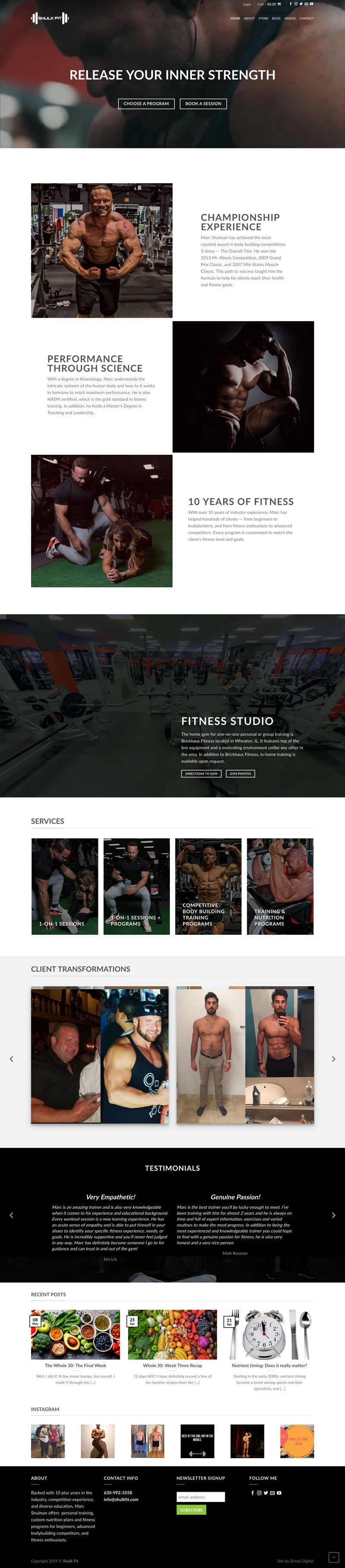 shulkfit ecommerce website development